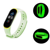 Bakeey Two-color Luminous Smart Watch Band Replacement Strap For Xiaomi Mi Band 5 Non-original