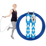 300cm Adjustable Jump Rope dengan Counter Cepat Menghitung Skipping Rope Home Gym Workout Equipment