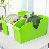 Storage box cucina di alto livello in plastica multifunzionale con ruote di finitura piatti rack pentola
