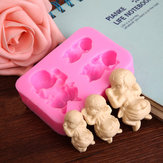 3 Sleeping Baby Silicone Mold Fondant Sabão Mold Cake Decorating