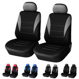 4 piezas universal doble asiento delantero cubierta autopartes interior