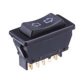 Universal DPDT Car Power Window Rocker Switch 5 Pins DC 12V 20A Black Plastic
