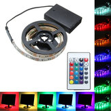 30/50/100/150 / 200CM Batería 5050 RGB LED Luz de tira flexible + Remote Home Decor DC5V