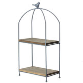 2 Tier Pflanzenständer Metall Blumentopf Gartenregal Display Rack Outdoor Indoor