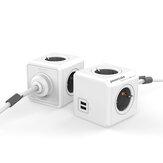 Bakeey 3680W Smart Plug Electric Power Strip Smart Tomada 2 USB 4 tomadas com cabo de extensão de 1,5 m Adaptador de viagem para home office