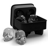 3D Skull Flexible Silicone Ice Cube Mold Tray Easy Release Realistic Skull Ice Cube Maker
