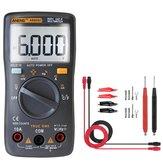 ANENGAN8002CzarnycyfrowyTrueRMS 6000 zliczeń Multimetr AC / DC Napięcie prądu Odporność na częstotliwość Tester temperatury ℃ / ℉ + Zestaw przewodów pomiarowych