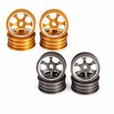 1/28 jantes de metal atualizadas 4PCS para WLtoys K979 K989 Rally Off Road RC Cars