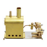 Microcosm M2C Mini Steam Boiler dengan Twin Cylinder Marine Steam Engine Stirling Engine Model