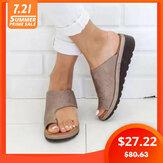 Duże, codzienne płaskie sandały Soft Clip Toe
