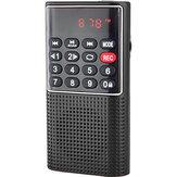 Mini FM Radio Portable Speaker Music Player με Υποστήριξη Υποδοχής Ακουστικών Εγγραφή TF Card AUX Folders Play