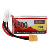 ZOP Power 7.4V 1500mAh 100C 2S Spina Lipo Batteria XT60 per RC Racing Drone