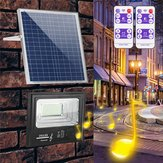 Brillante Solar Powered 192 LED Flood Security Light Dimmable con Control remoto Controlador para pared de jardín al aire libre