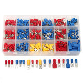 Excellway CT018 330Pcs 18 rodzajów Assorted Crimp Terminals Insulated Electrical Okablowanie Connector