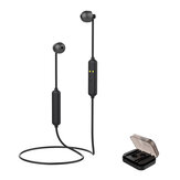 [bluetooth 5.0] Mini Sport Magnetic Wireless Headset Hifi Stereo Sound Wired Control Neckband Earphone With Portable Charging Box
