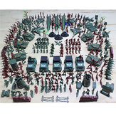 307PCS 4-9CM Military Soldier Army Men Figur Model Building Suit For Kids Børn Gave Legetøj