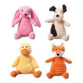 23 СМ Смешно Soft Pet Puppy Chew Play Squeaker Скрипучая Симпатичная Фаршированная Плюшевая Игрушка