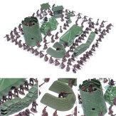 100 قطع 3 سنتيمتر الجيش القتالية الرجال كيد لعبة الجنود العسكرية البلاستيك تمثال عمل الشكل