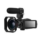 Ordro HDR-Z63 2K Ultra HD Digital Video Cámara WIFI Cámara Antivibración IR Visión nocturna por infrarrojos + Gran angular + Micrófono + Capucha