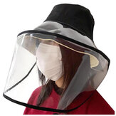 Fisherman Chapéu Clear Máscara Tampa protetora removível Anti-fog Full Face Outdoor