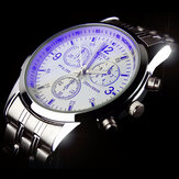 Casual Style Full Steel Band Decorative Dial Men Wrist Watch