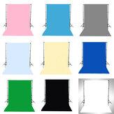 1.5x3M Groen Zwart Wit Blauw Geel Roze Grijs Effen achtergrondkleur Achtergrond Studio Prop