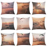 Honana BX 45x45cm Skydiving Pattern Luxury Cushion Cover Graffi Style Throw Pillow Case Pillow Cover