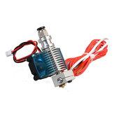 3PCS Geekcreit® 0,4 мм V6 1,75 мм междугородная металлическая насадка-экструдер с охлаждающим вентилятором для 3D-принтера