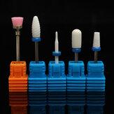 5szt. Ceramiczny zestaw do paznokci. Gładki, zwężający się pędzel, obrotowy zestaw skórek Manicure Pedicure Salon Kit