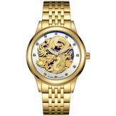 TEVISE 9006 Hollow Phoenix Dragon Pattern Mechanical Watch