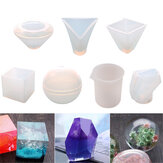 7Pcs Epoxy Resin Casting Molds DIY Kit Silicone Mould Jewelry Pendant Craft Making