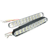 2pcs 20SMD 5050 White 10SMD 3528 Yellow LED Car Daytime Running Lights DRL with Turn Lights