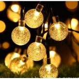 Açık Solar Güç 50 LED Dize Işık Bahçe Dekor Manzara Su Geçirmez Lamba
