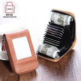 RFID Blocking Wallet Herren Damen Kuh Leder 12 Card Slots Kartenhalter Wallet