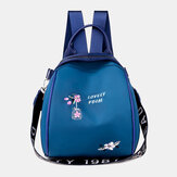Women Oxford Waterproof Embroidery Ethnic Multi-carry Backpack