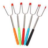 5 peças 45 '' Varas de assar extensíveis garfo para churrasco espetos telescópicos ferramenta de cozinha