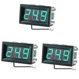 3個0.56インチミニデジタルLCD屋内便利な温度センサーメーターモニター温度計1Mケーブル付き-50-120℃DC5-12V