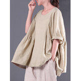 Casual Women Solid Color Blouse