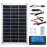 Max 100W Protable Solar Panel Kit Dual DC USB Charger Kit Painel de energia solar semi-flexível de cristal único c / nenhum / 10A/30A / 60A / 100A Controlador solar