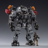 JOYTOY Action Figure Multi-joint Scale 1:25 STEEL BONE H-05 Heavy firepower MECHA(gray)  Figure New Toy for Collectible Toys