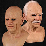 Halloween Face Wig Old Man Mask Horror Headgear