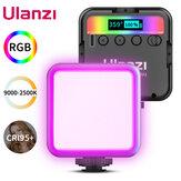 Ulanzi VL49RGBフルカラーLEDビデオライト2500K-9000K800LUX磁気ミニフィルライトエクステンド3コールドシュー2000mAhType-cポート