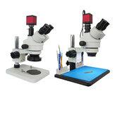 Efix 3.5-45X 13MP estéreo trinocular Solda lente de suporte de microscópio câmera digital para conserto de kits de ferramentas de celular
