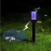 Jardin solaire énergie LED lumière de pelouse imperméable en plastique de tueur de moustique de cour de jardin