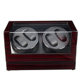 Automatic Watch Winder Carbon Fiber Jewelry Storage Case Watches Display Box 2 Unites
