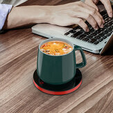 A201 55℃ Constant Temperature Cup Heating Mat 18W Two Gear Touch Control Electric Tea Warmer 8H Automatic Power Off Protection for Home Office Travel