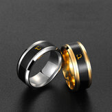 Bakeey Temperature Changing Color Sensing Literary Titanium Steel Tail Ring