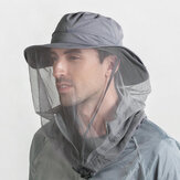 Outdoor Mosquito Net Hat Sun Bucket Hat Cover Face Quick-drying Hat Sports Hat Fishing Hat Mountaineering Hat With String