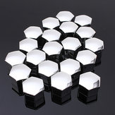 Set van 20 stuks 17mm Car Plastic Caps Bouten Bevat Nuts Alloy Wheel