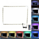 2 * 50 cm + 2 * 100 cm USB LED Strip Light TV Backlight 5050 RGB Zmieniająca kolor lampa + 24Keys / 44Keys Pilot